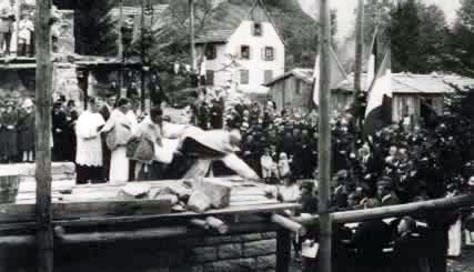 Inauguration de l'église de Mittlach en 1929
