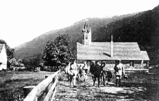 Visite à Mittlach du Président POINCARE en 1915
