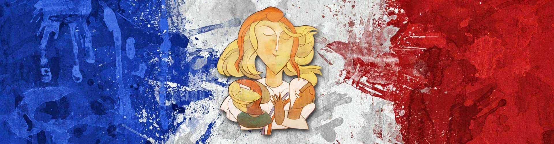 Marianne de Mittlach et couleurs de la France